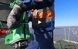 lubricador para cables de acero